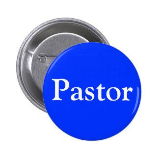 Botón cristiano del pastor con el corchete del per