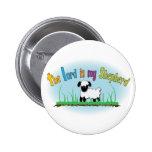Botón cristiano - el señor es mi pastor pin
