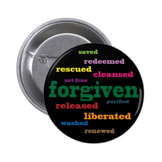 Botón cristiano perdonado (negro) pin