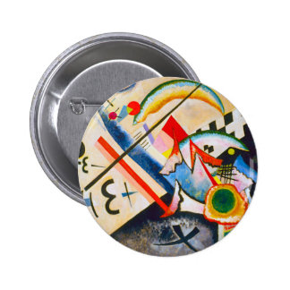 Botón cruzado blanco de Kandinsky Pin