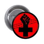 Botón cruzado negro del anarquista pins