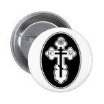 Botón cruzado ortodoxo del St Olga Pins