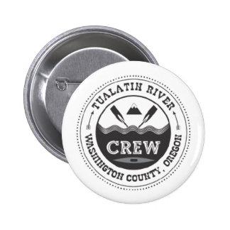 Botón cruzado Paddler de los remos de Tualatin Pin Redondo De 2 Pulgadas