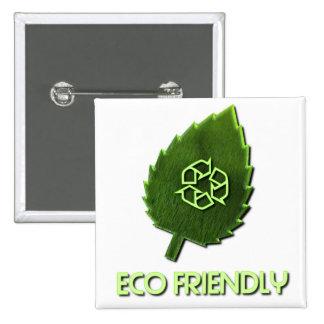 Botón cuadrado amistoso de Eco Pin