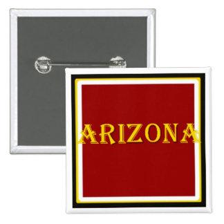Botón cuadrado de Arizona Pin