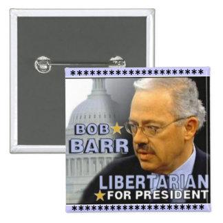 Botón cuadrado de Bob Barr Pin
