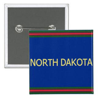 Botón cuadrado de Dakota del Norte Pin Cuadrado
