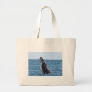 Botón cuadrado de Huggers de la ballena Bolsa