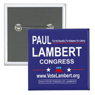 Botón cuadrado de la campaña pin