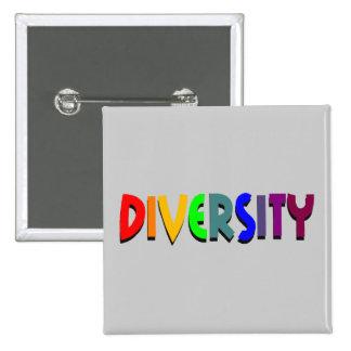 Botón cuadrado de la diversidad pins