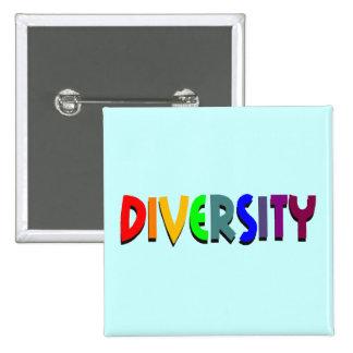 Botón cuadrado de la diversidad pin cuadrado