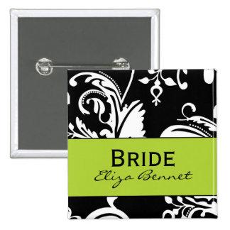 Botón cuadrado de la novia de B&G Pin Cuadrado