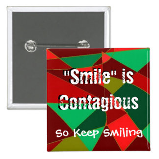 Botón cuadrado de la sonrisa