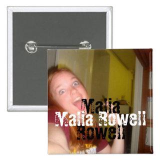 Botón cuadrado de Malia Rowell Pins