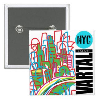 Botón cuadrado de NYC Vartali Pin Cuadrado
