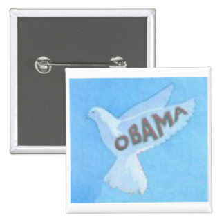 Botón cuadrado de Obama Pin