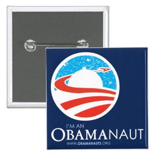 Botón cuadrado de Obamanaut Pins