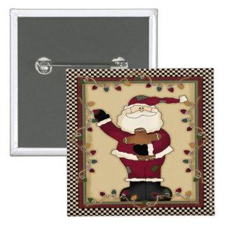 Botón cuadrado de Santa del navidad Pin Cuadrado