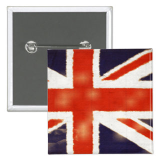 Botón cuadrado de Union Jack de la bandera británi Pins