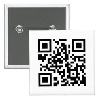 Botón cuadrado del código de QR Pin Cuadrado