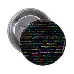 Botón cuadrado del diseño I del texto de Emily Pin