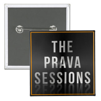 Botón cuadrado del logotipo de las sesiones de pin cuadrado