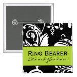 Botón cuadrado del portador de anillo de B&G Pin