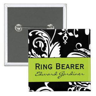 Botón cuadrado del portador de anillo de B&G Pin Cuadrado