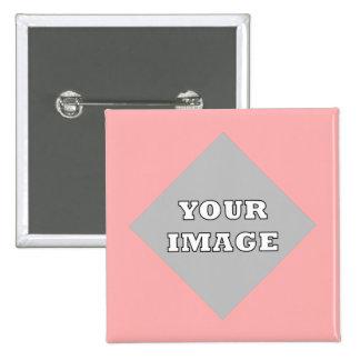 Botón cuadrado diagonal del marco de la foto pin cuadrado