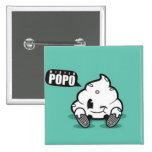 Boton Cuadrado- Mr. Popo Pin Cuadrada 5 Cm