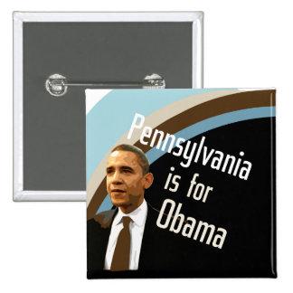 Botón cuadrado para Obama en el PA Pins