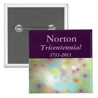 Botón cuadrado Tricentennial 1711-2011 de Norton Pin