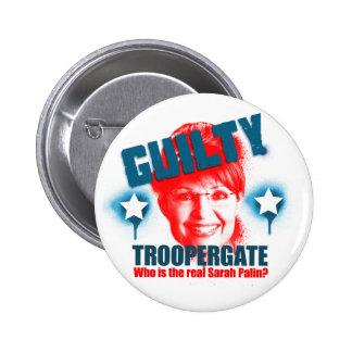 Botón culpable de Troopergate Sarah Palin