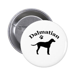 Botón dálmata de la silueta del pawprint del perro