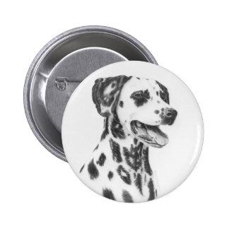 Botón dálmata del perro