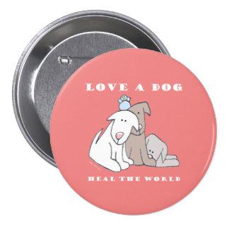 Botón de 3 perritos del amor pins