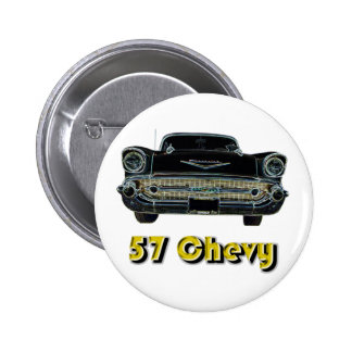 Botón de 57 Chevy Pin Redondo De 2 Pulgadas