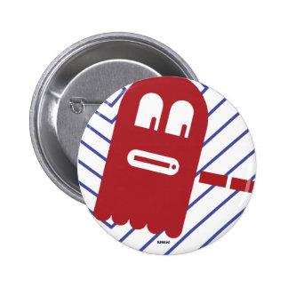 botón de 8 bits del FANTASMA Pin Redondo De 2 Pulgadas
