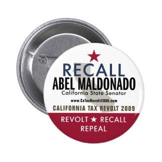 Botón de Abel Maldonado de memoria Pin Redondo De 2 Pulgadas
