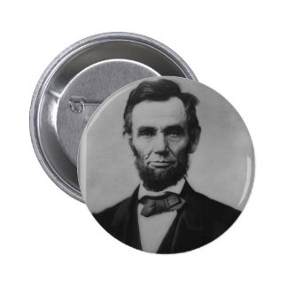 Botón de Abraham Lincoln Pin Redondo De 2 Pulgadas