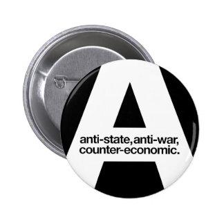 Botón de Agorist Pin Redondo De 2 Pulgadas