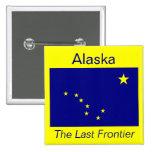 Botón de Alaska de la bandera Pin