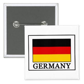 Botón de Alemania Pin Cuadrado