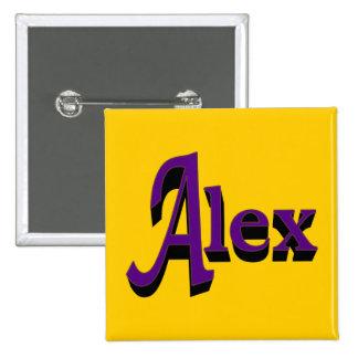 Botón de Alex Pin Cuadrado