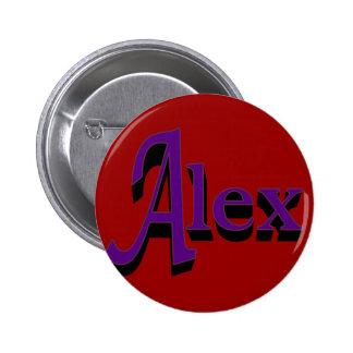 Botón de Alex Pin Redondo De 2 Pulgadas