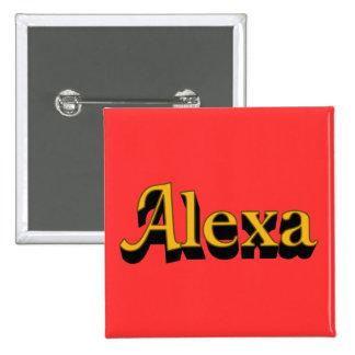 Botón de Alexa Pin Cuadrado