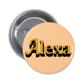 Botón de Alexa Pin Redondo De 2 Pulgadas
