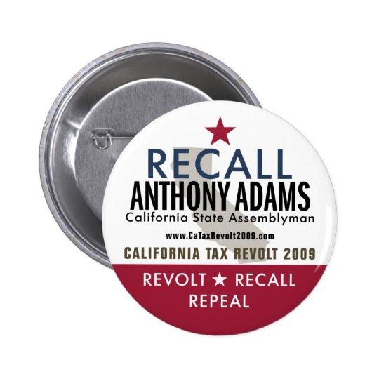 Botón de Anthony Adams de memoria Pin Redondo De 2 Pulgadas