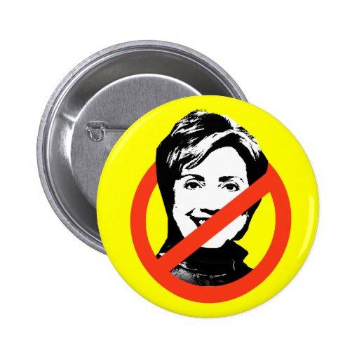 Botón de Anti-Hillary Clinton
