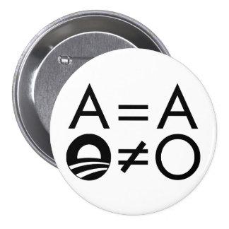 Botón de Anti-Obama Objectivist Pins